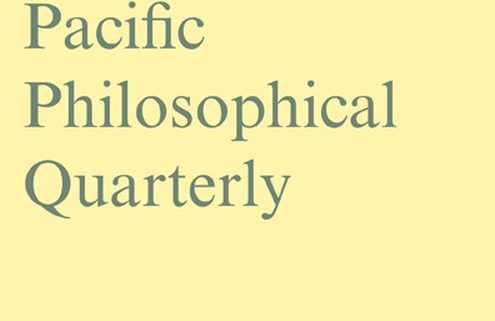 Pacific Philosophical Quarterly Cover